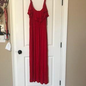 Red Maxi-Dress